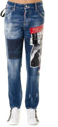 DSQUARED2 Jeans No Print Imitators In Blue Denim
