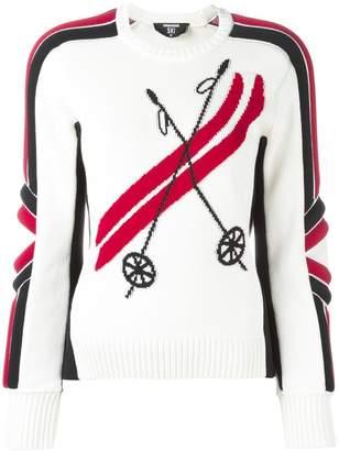 Ski ribbed intarsia jumper