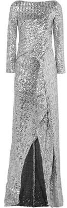 Roland Mouret Sequined Tulle Gown - Silver