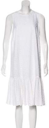 YMC Eyelet Midi Dress