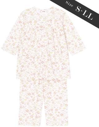 Wing 【お値打ち品パジャマ】綿100%つる花柄 ウイング/ワコール(C)FDB