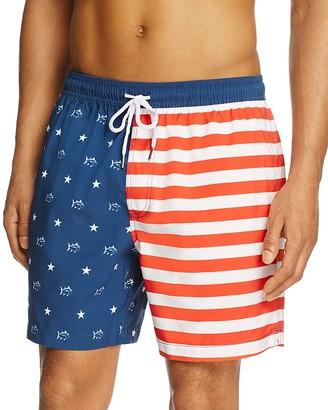 Southern Tide Skipjack Flag Swim Trunks $85 thestylecure.com