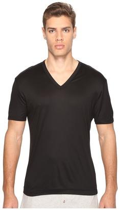 Dolce & Gabbana - Polka Dot Silk Modal V-Neck Tee Men's T Shirt $165 thestylecure.com