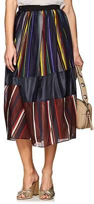 Kolor Women's Geometric-Print Cotton Voile Midi-Skirt