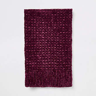 River Island Red chenille knit scarf