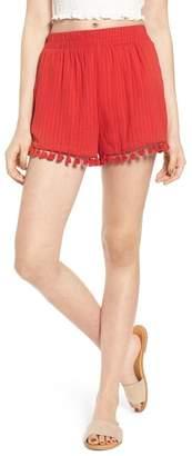Moon River Pompom Trim Shorts