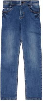 BOSS Logo Embossed Skinny Jeans