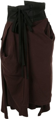 aganovich high waisted jersey skirt