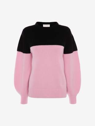 Alexander McQueen Colour Block Cashmere Knitted Jumper
