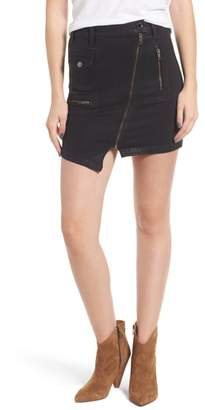 Hudson High Waist Moto Denim Miniskirt