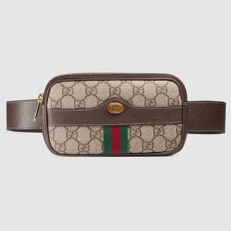 Gucci (グッチ) - 〔オフィディア〕GGスプリーム ベルト付き iPhone ケース