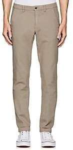 Barneys New York MEN'S BASKET-WOVEN COTTON SLIM TROUSERS