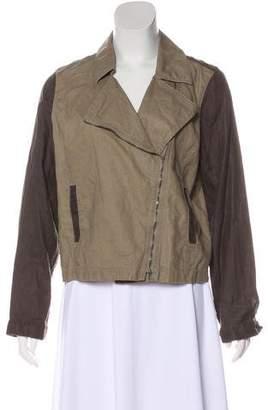 Eileen Fisher Zip-Up Linen Jacket