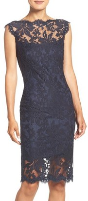 Tadashi Shoji Embroidered Lace Sheath Dress $268 thestylecure.com