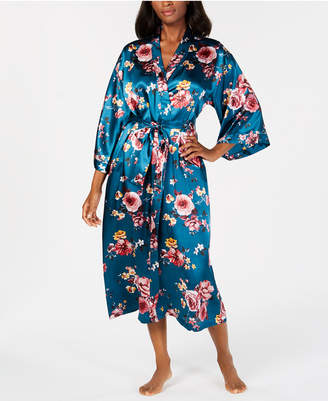 Thalia Sodi Floral-Print Long Wrap Robe, Created for Macy's