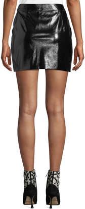 J.o.a. Rocker Zip-Front Faux-Leather Miniskirt