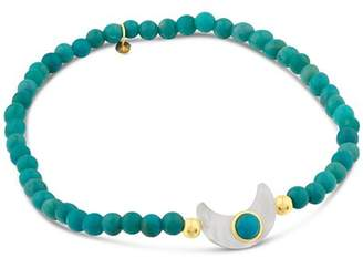 Tous 18K Yellow Gold Super Power Turquoise & Mother-Of-Pearl Beaded Stretch Bracelet