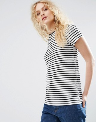 ASOS Crew Neck T-Shirt in Stripe $15.50 thestylecure.com
