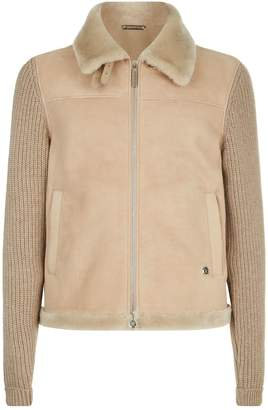 Stefano Ricci Knitted Sleeve Suede Jacket