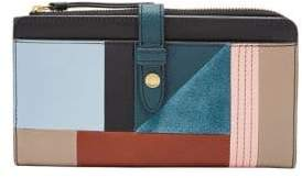 Fossil Fiona Patchwork Leather Tab Clutch