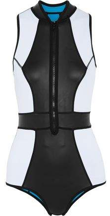 Duskii Paneled Coated Neoprene Swimsuit