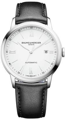 Baume & Mercier BAUME AND MERCIER Classima Automatic Leather Strap Watch, 42mm