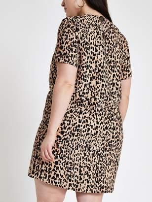 d754cadf8545 River Island RI Plus Ri Plus Leopard Print Swing Dress- Leopard Print