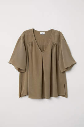 H&M Creped Blouse - Green