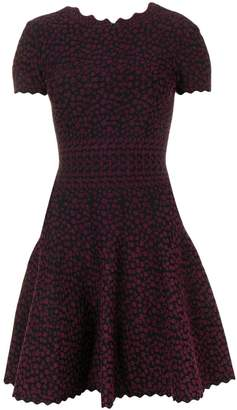 Alaia Pre-Owned 2000's asymmetric dotted flared dress