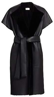 The Row Women's Jill Reversible Shearling Wrap Coat
