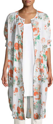 Masai Narelle Floral-Print Button-Front Tunic