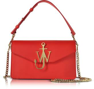J.W.Anderson Scarlet Red Leather Logo Purse