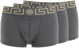Versace Underwear Pack Of 3 Stretch Cotton Boxer Briefs
