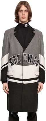 Kokon To Zai Twtc Varsity Style Wool Coat