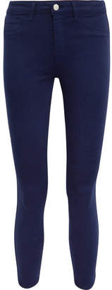 L'Agence Margot Cropped High-rise Skinny Jeans - Navy