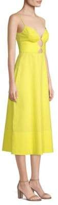Saloni Jana V-Neck Midi Dress