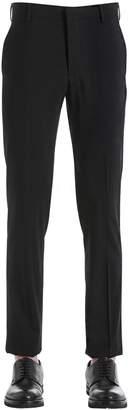 Prada 18cm Slim Fit Stretch Wool Canvas Pants