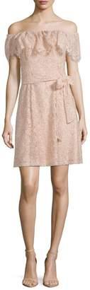 Julia Jordan Floral Lace Mini Dress