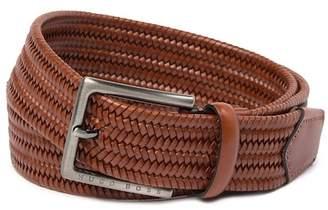 BOSS Seymo Woven Leather Belt