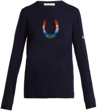 Bella Freud Horseshoe Rainbow cashmere-blend sweater