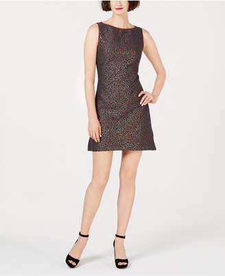 Betsey Johnson Leopard-Jacquard Fit & Flare Dress