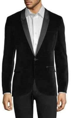 HUGO Arti Shawl Collar Velvet Blazer