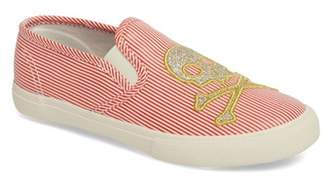 Boden Mini  Embroidered Slip-On Sneaker (Toddler & Little Kid)