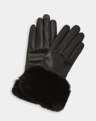 Ted Baker NADIE Faux fur trim gloves