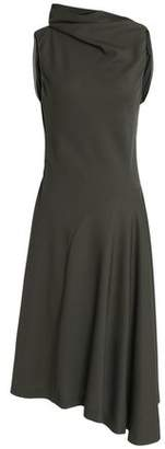Nina Ricci Asymmetric Twill Midi Dress