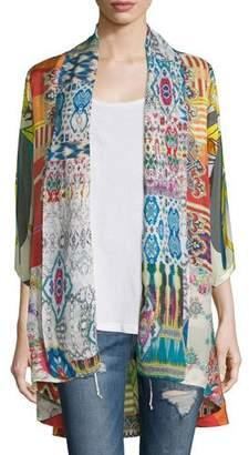 Johnny Was Mix-Print Kimono Jacket, Plus Size $275 thestylecure.com