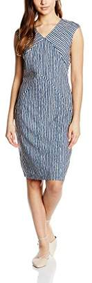 Almost Famous Women's Stripy Pencil Striped Sleeveless Dress