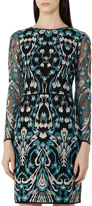 REISS Alianna Embroidered Dress $465 thestylecure.com
