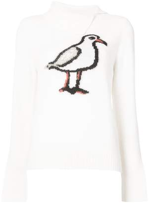 Oscar de la Renta bird-intarsia jumper