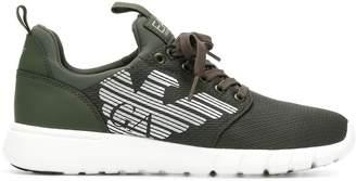 Emporio Armani Ea7 logo lace-up sneakers